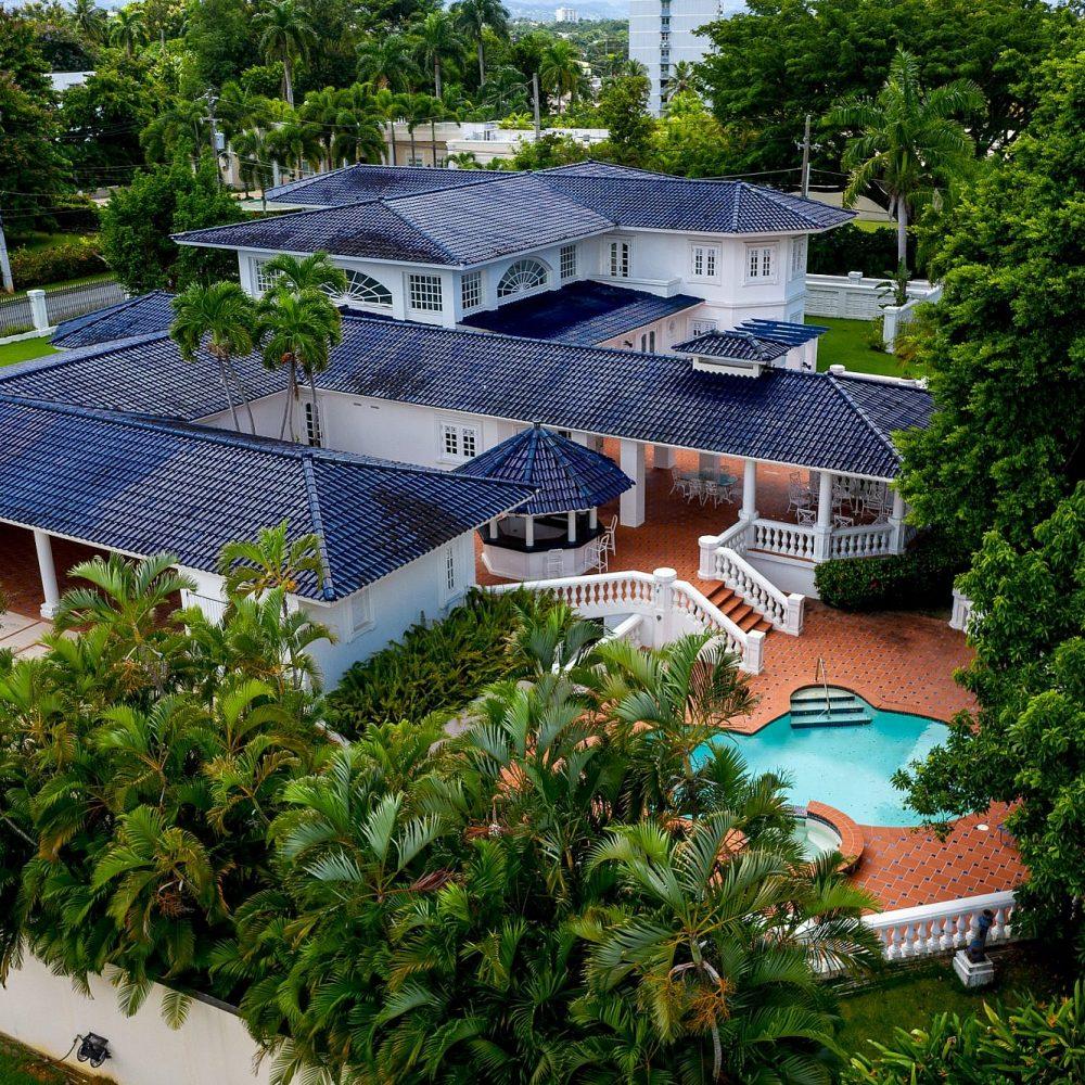 Puerto Rico Real Estate Photography San Patricio Ariel of Pool